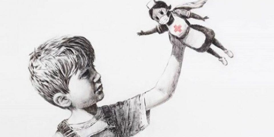 Μια νοσηλεύτρια γίνεται ο σούπερ ήρωας ενός παιδιού - Το νέο έργο του Banksy