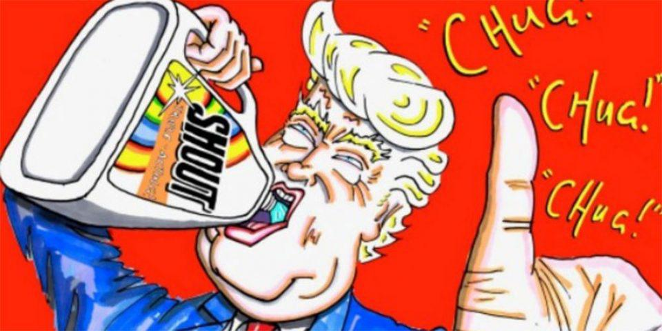 Στο «στόχαστρο» του Τζιμ Κάρεϊ ο Τραμπ με νέες γελοιογραφίες