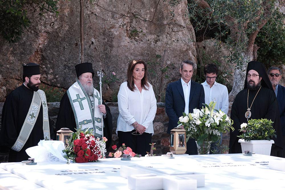 Συγκίνηση στο μνημόσυνο του Κωνσταντίνου Μητσοτάκη στα Χανιά