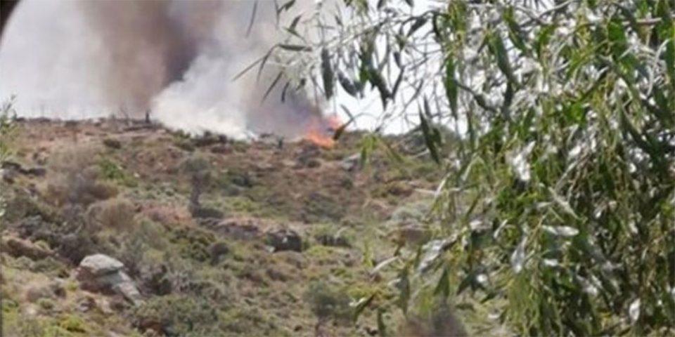 Σε εξέλιξη φωτιά στο Ρέθυμνο - Στην περιοχή πνέουν ισχυροί άνεμοι