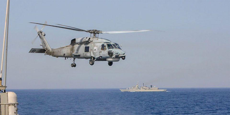 Εντυπωσιακές εικόνες από την άσκηση του Πολεμικού Ναυτικού σε Μυρτώο και Κρητικό πέλαγος