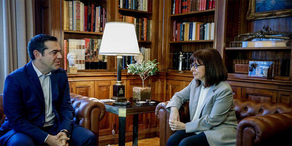 Η πανδημία στην ατζέντα της συνάντησης Σακελλαροπούλου - Τσίπρα