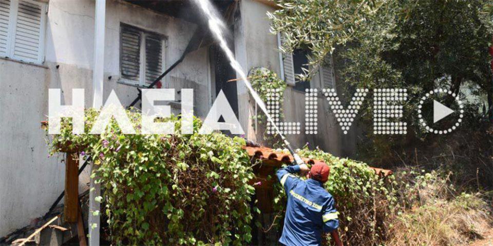 Τραγωδία στη Ζαχάρω: Ένας νεκρός από φωτιά σε σπίτι