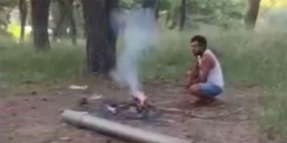 Μαλακάσα: Βίντεο - ντοκουμέντο με μετανάστες να ανάβουν φωτιά στο δάσος – Συνεχείς εκκλήσεις των κατοίκων