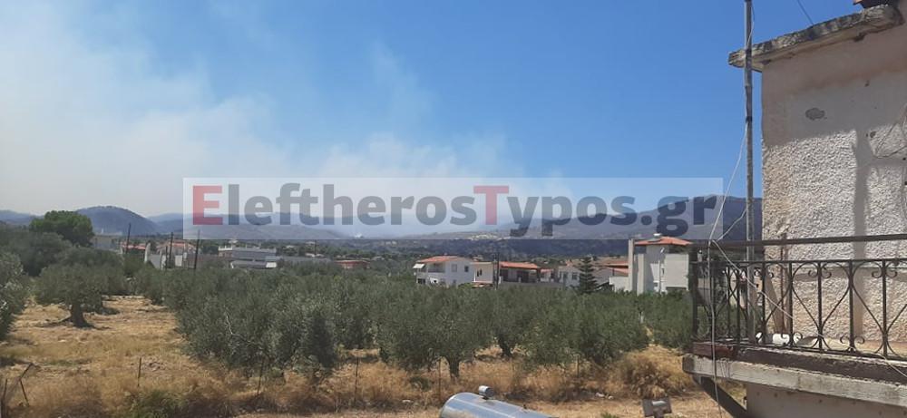 Εκτός ελέγχου η φωτιά στις Κεχριές Κορινθίας: Εκκενώθηκαν κατασκήνωση και οικισμός - Τιτάνιες οι προσπάθειες των πυροσβεστών