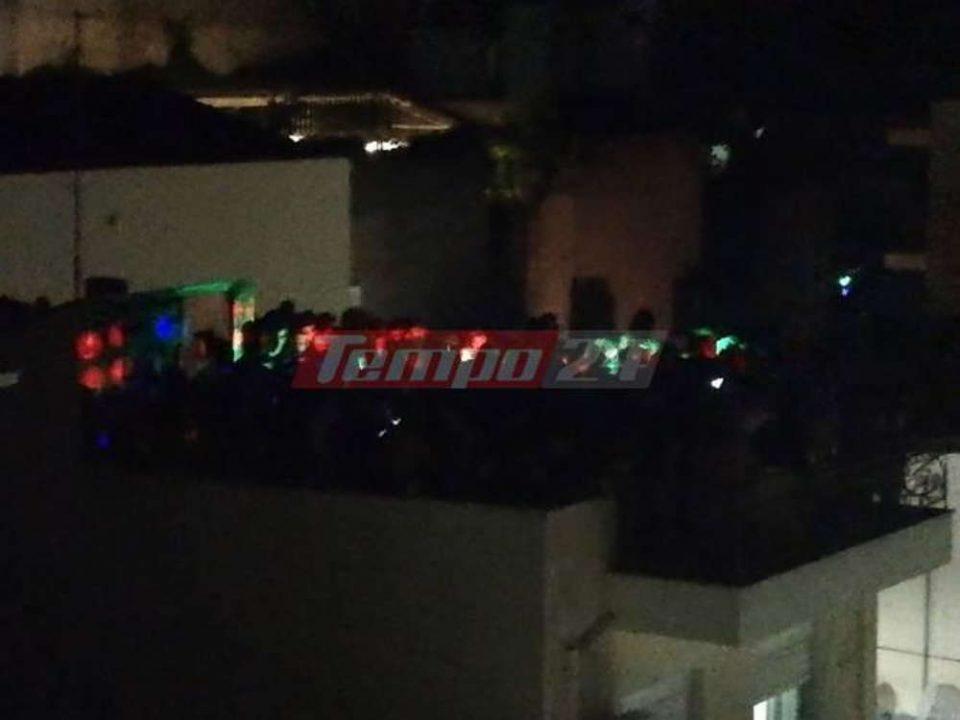 Άφησαν τα πανηγύρια και ανέβηκαν στις ταράτσες - Απίστευτες εικόνες από πάρτι στην Πάτρα