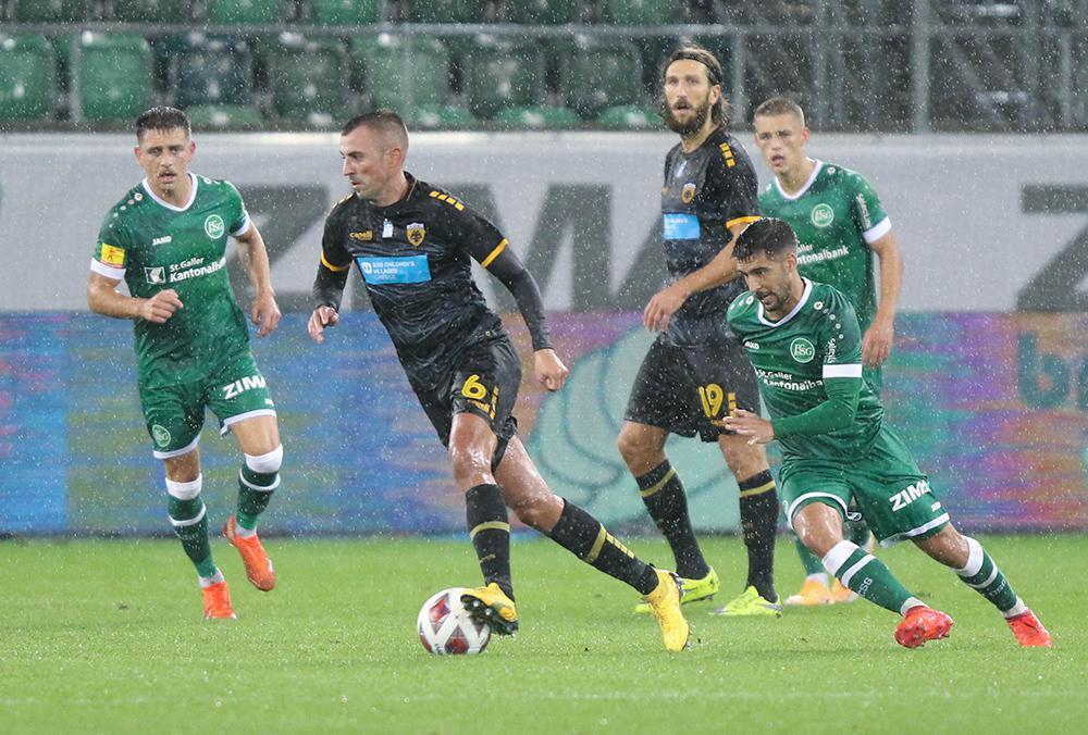 Europa League: Η ΑΕΚ πήρε την πρόκριση, 1-0 τη Σεντ Γκάλεν