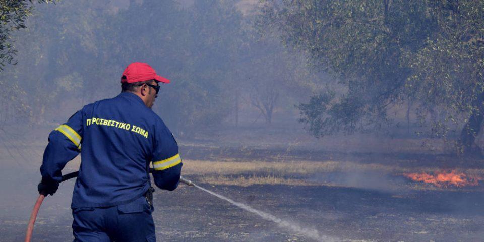 Σε εξέλιξη φωτιά στο Λαύριο - Άμεση κινητοποίηση της Πυροσβεστικής