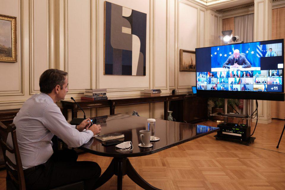 Μητσοτάκης- Στην τηλεδιάσκεψη ηγετών της ΕΕ: Ευρωπαϊκός συντονισμός για την πανδημία