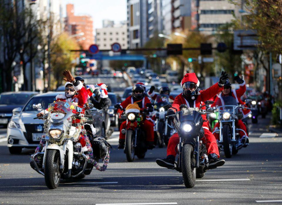 Μοτοσικλετιστές- Άγιοι Βασίληδες παρέλασαν με Harley Davidson στο Τόκιο κατά της παιδικής κακοποίησης