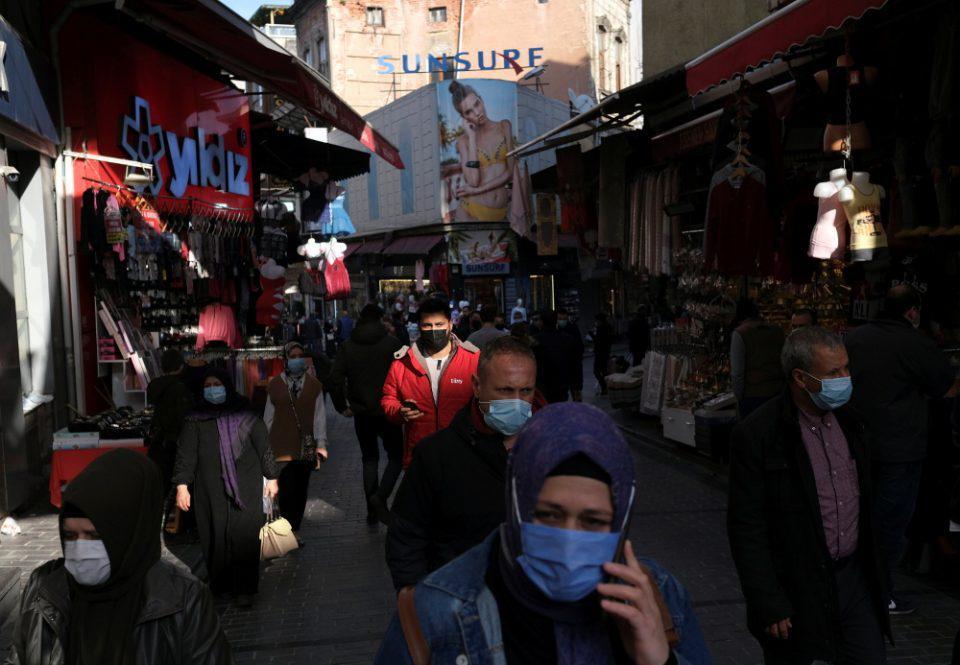 Κορωνοϊός - Τουρκία: 13.695 νέες μολύνσεις και 197 θάνατοι σε 24 ώρες
