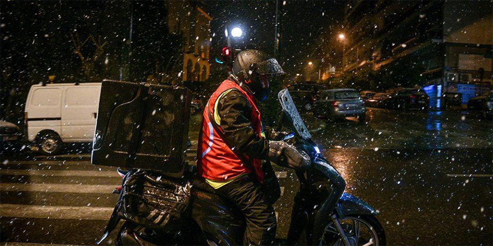Κακοκαιρία «Μήδεια» - Σύσταση του Yπ. Εργασίας: Μην βάζετε σε κίνδυνο τους εργαζόμενους στο delivery