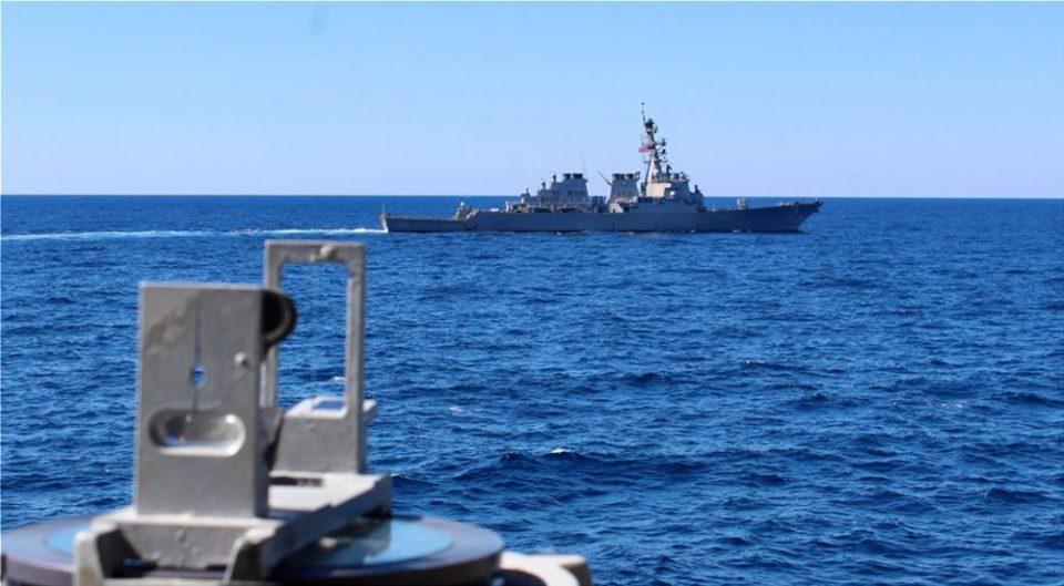 Συνεκπαίδευση μονάδων του ΠΝ και της ΠΑ με πλοίο με πλοίο των ΗΠΑ