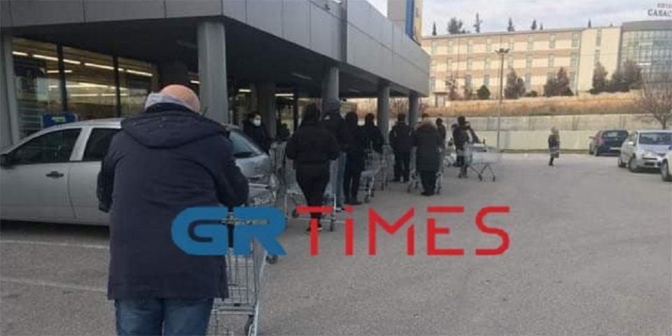 H «Μήδεια» έρχεται, τα… προϊόντα φεύγουν: Ουρές στα σούπερ της Θεσσαλονίκης εν όψει της κακοκαιρίας [εικόνες]