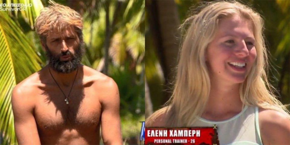 Survivor 4: Το… ενδιαφέρον του Αλέξη Παππά για την Ελένη Χαμπέρη!