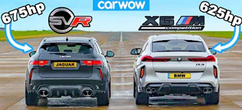 Εντυπωσιακό Drag Race μιας BMW X6M και μια βελτιωμένης Jaguar F-Pace Lister
