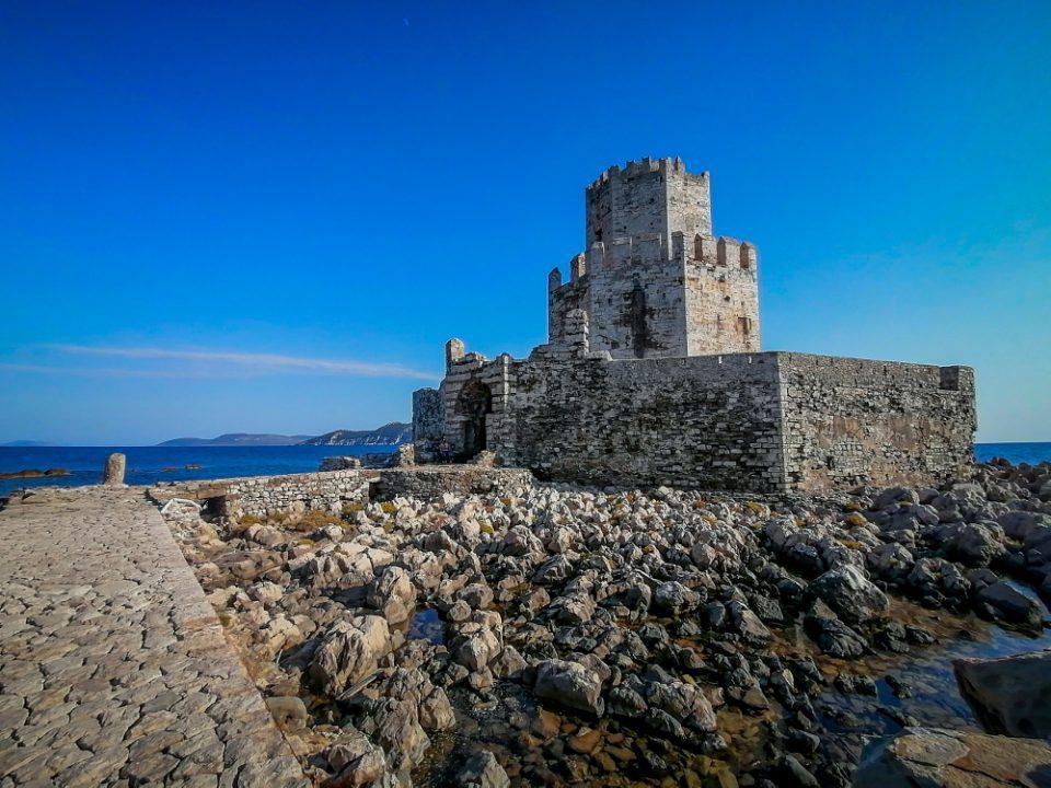 To κάστρο της Μεθώνης στο ύψος του