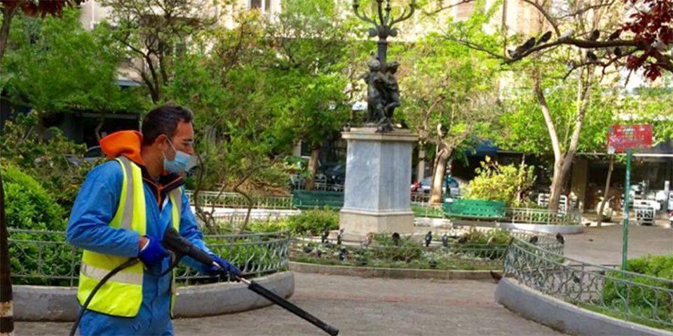 Επιχείρηση καθαριότητας στην Κυψέλη από τον Δήμο Αθηναίων [εικόνες]