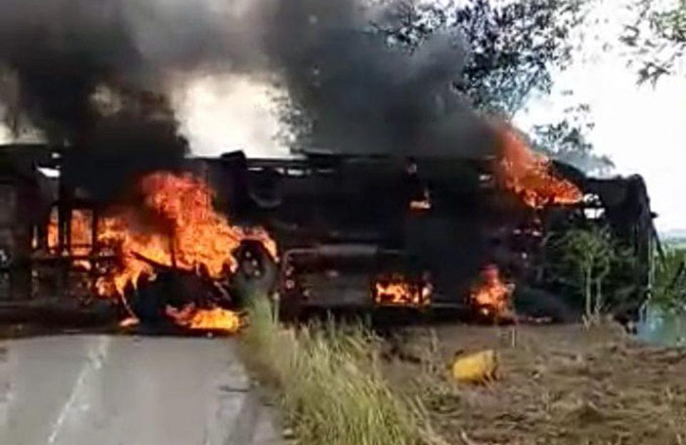 Κονγκό: Δεκάδες άνθρωποι κάηκαν ζωντανοί σε δυστύχημα με λεωφορείο