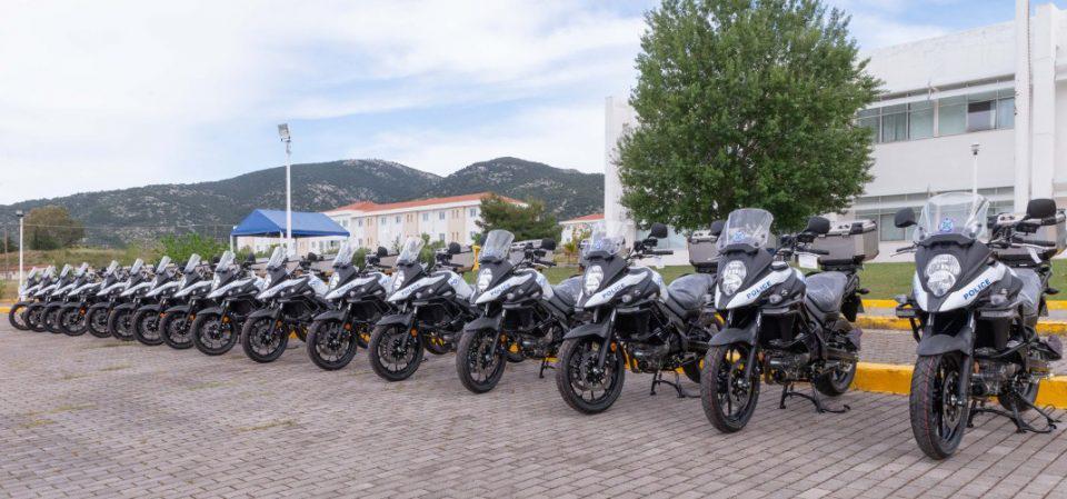 Ενισχύεται ο στόλος της Ελληνικής Αστυνομίας με 16 νέες μοτοσικλέτες