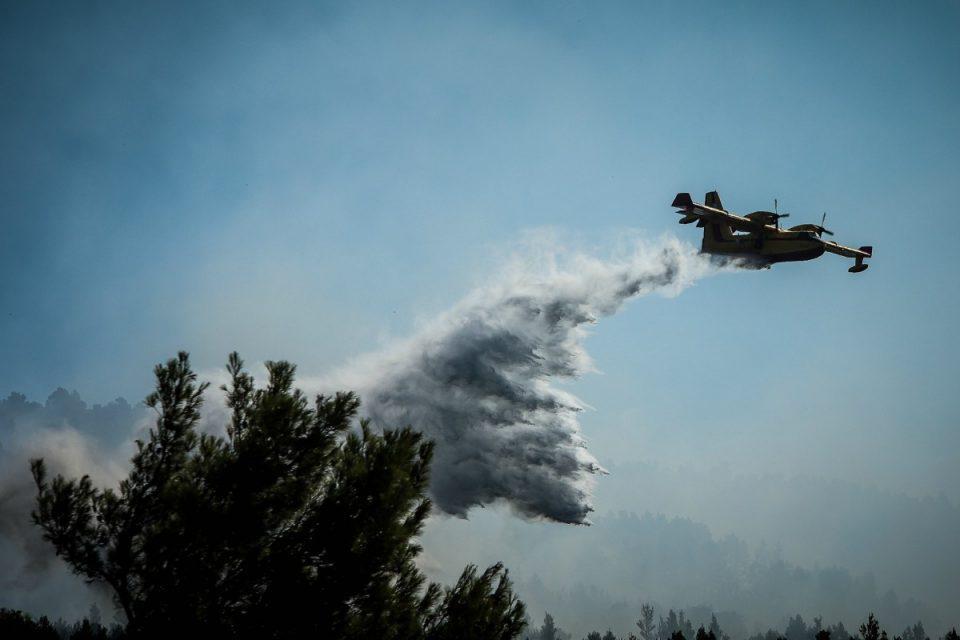 Φωτιά στον Βόλο – Δεν απειλείται κατοικημένη περιοχή