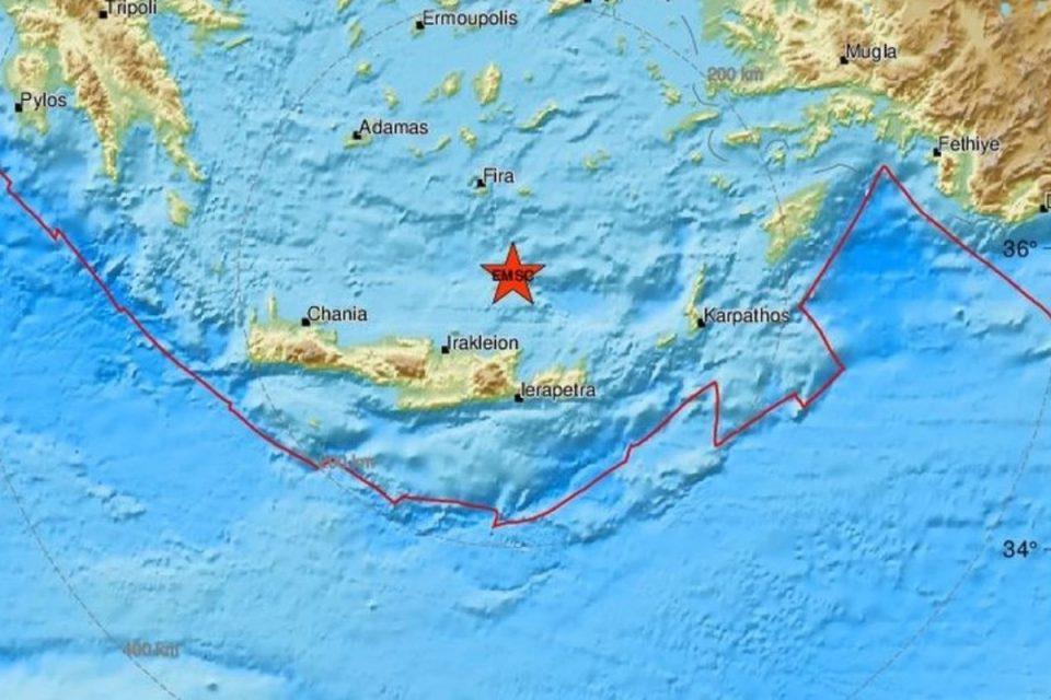 Σεισμός στην Κρήτη - 3,8 ρίχτερ κούνησαν το νησί
