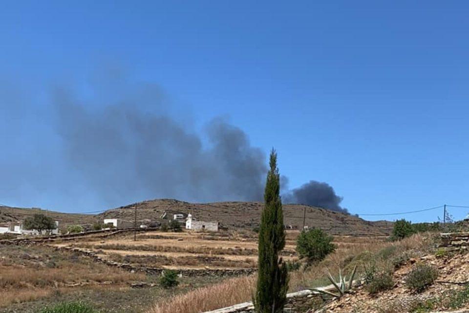 Φωτιά στην Κέα – Φτάνουν ενισχύσεις από Λαύριο
