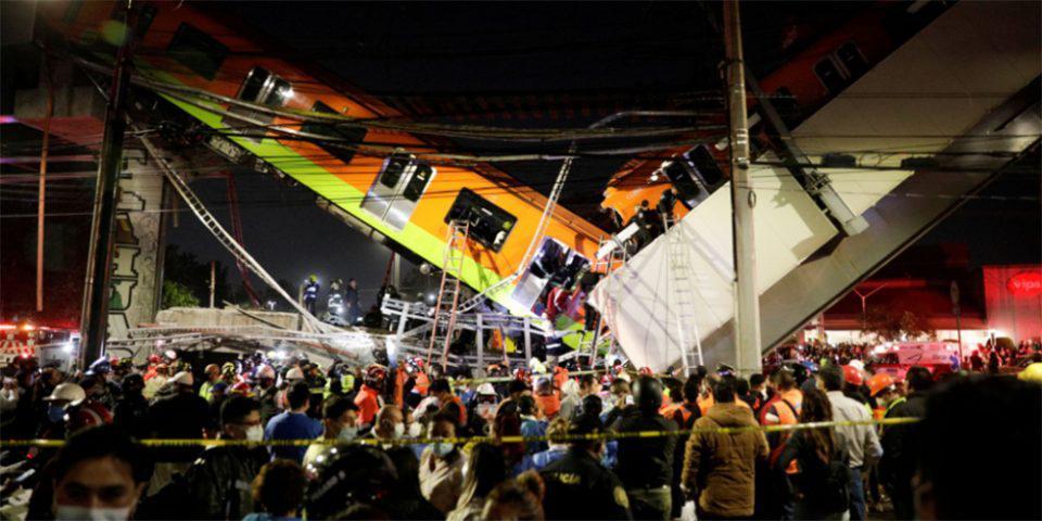 Τραγωδία στο Μεξικό: Κατέρρευσε γέφυρα του μετρό πάνω σε δρόμο