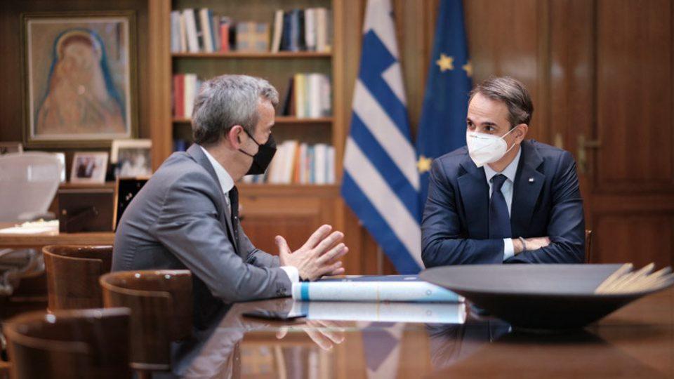 Μητσοτάκης σε Ζέρβα: Τα απαραίτητα μέτρα θα παραμείνουν σε ισχύ έως ότου χτίσουμε εθνικό τείχος ανοσίας