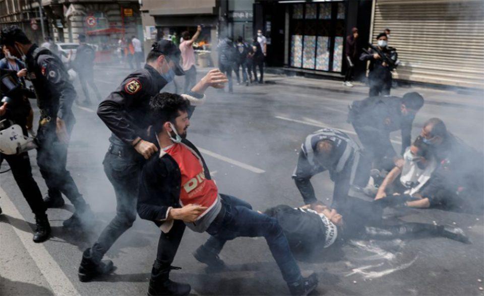 Τουρκία: Επεισόδια στις διαδηλώσεις για την Εργατική Πρωτομαγιά
