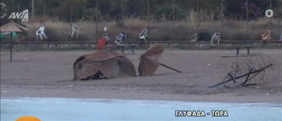 Γλυφάδα: Έβαλαν φωτιά σε ομπρέλες και εκτόξευσαν πέτρες σε πυροσβέστες