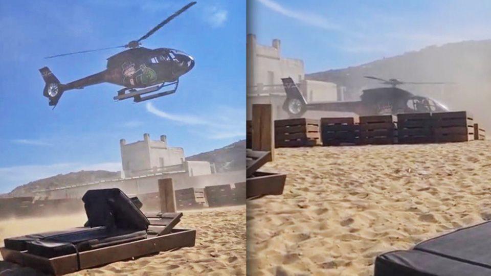 Μύκονος: Διατάχθηκε έρευνα από την ΥΠΑ για την προσγείωση του ελικοπτέρου στην παραλία