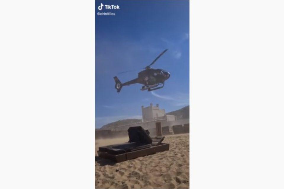 Μύκονος: Το είδαμε και αυτό – Επιχειρηματίας προσγειώθηκε σε beach bar με ελικόπτερο [βίντεο]