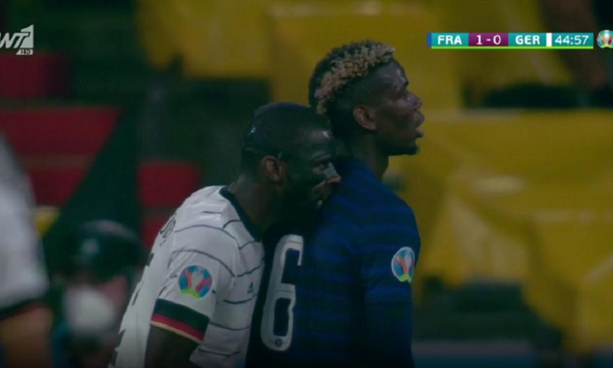 Euro 2021: Ο Ρίντιγκερ έπαθε... Σουάρες - Δάγκωσε τον Πογκμπά στην πλάτη