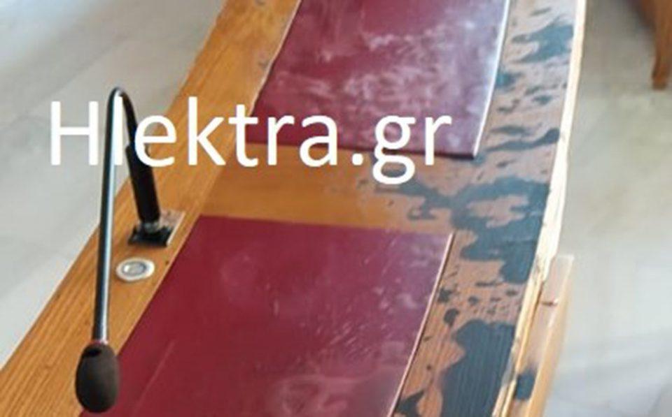 Μονή Πετράκη: Εικόνες από την αίθουσα που ο δράστης έριξε το βιτριόλι