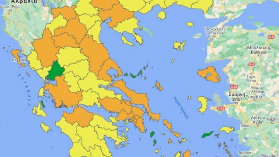 Κορονοϊός: Νέοι χάρτες για την εξέλιξη της πανδημίας - Τα μέτρα ανα επίπεδο
