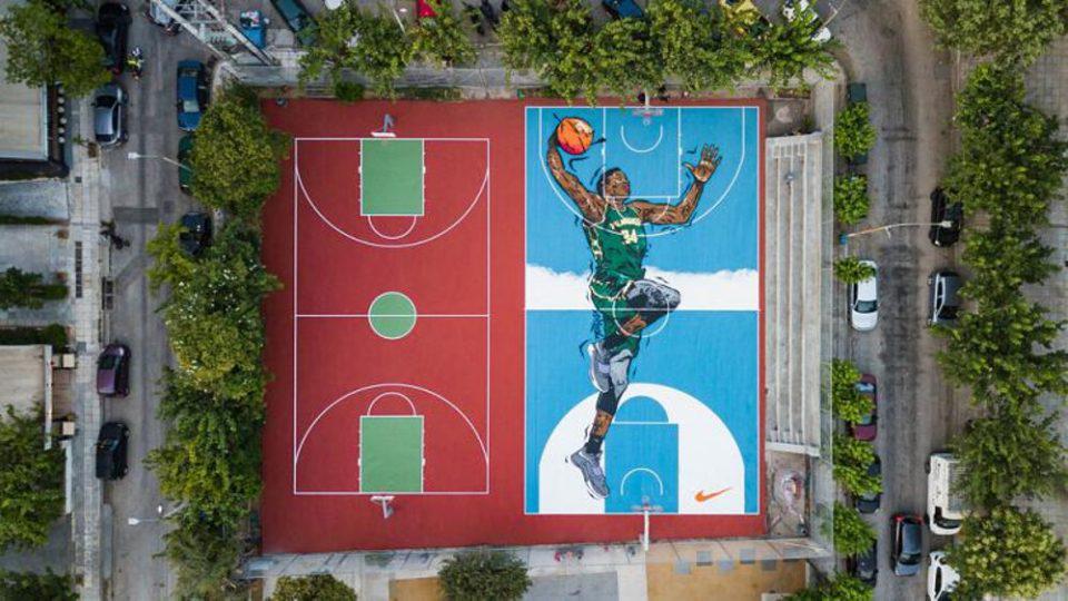 Γιάννης Αντετοκούνμπο – Δήμος Αθηναίων: Μεταμορφώνονται τα γήπεδα των Σεπολίων