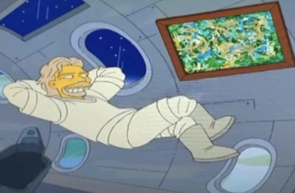 Οι Simpsons «προέβλεψαν» πριν 7 χρόνια το ταξίδι του Μπράνσον στο Διάστημα