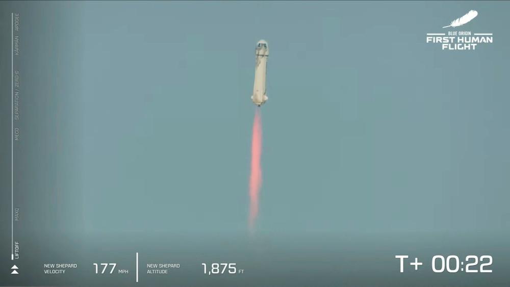 Ο Τζεφ Μπέζος πήγε στο διάστημα