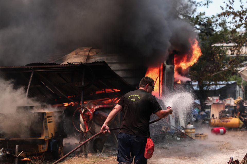 Φωτιά στην Αττική: Καίγονται σπίτια στην Ροδόπολη - «Μάχη» στην Σταμάτα