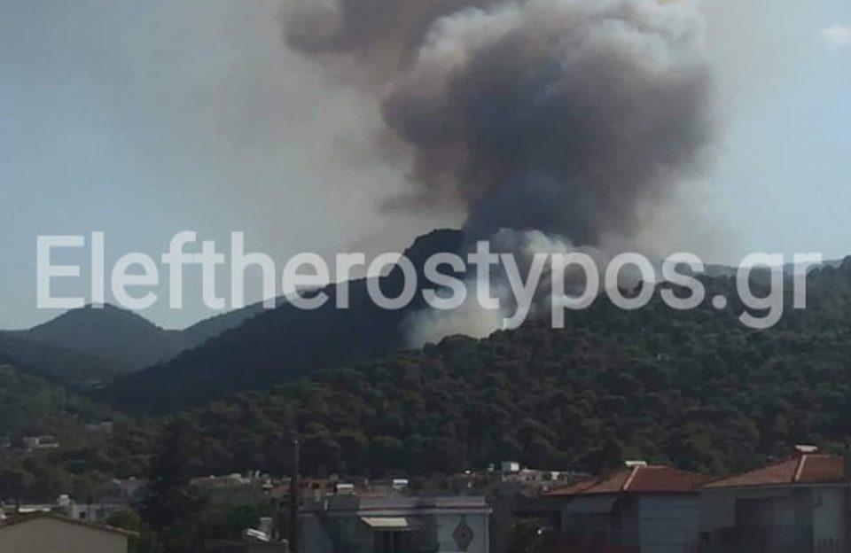 Νέα μεγάλη φωτιά στην Κορινθία – Συναγερμός στην Πυροσβεστική