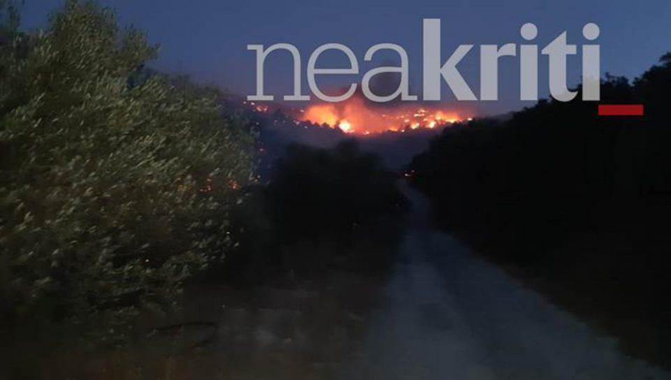 Φωτιά στο Λασίθι: Σε ύφεση το μέτωπο - Μάχη με τις αναζωπυρώσεις