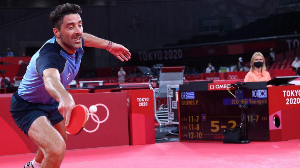 Ολυμπιακοί Αγώνες-Πινγκ Πονγκ: Πικρή ήττα κι αποκλεισμός για τον Παναγιώτη Γκιώνη