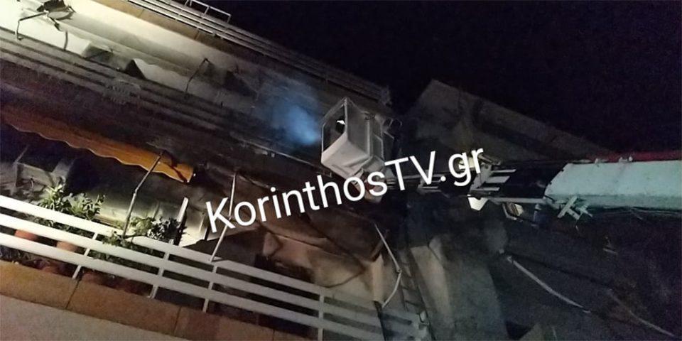 Παραλίγο τραγωδία από φωτιά σε πολυκατοικία στο Λουτράκι
