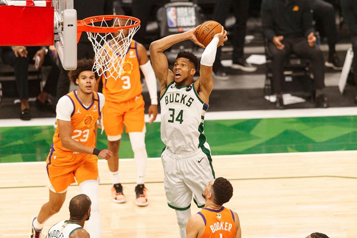 NBA Finals: Με καρδιά Γιάννη οι Μπακς – Αντετοκούνμπο και Μίντλετον ισοφάρισαν τους Σανς σε 2-2