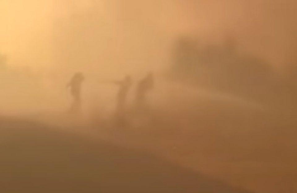 Φωτιά στην Βαρυμπόμπη: Έτσι σώθηκε ο πυροσβεστικός σταθμός στο Ολυμπιακό Χωρίο