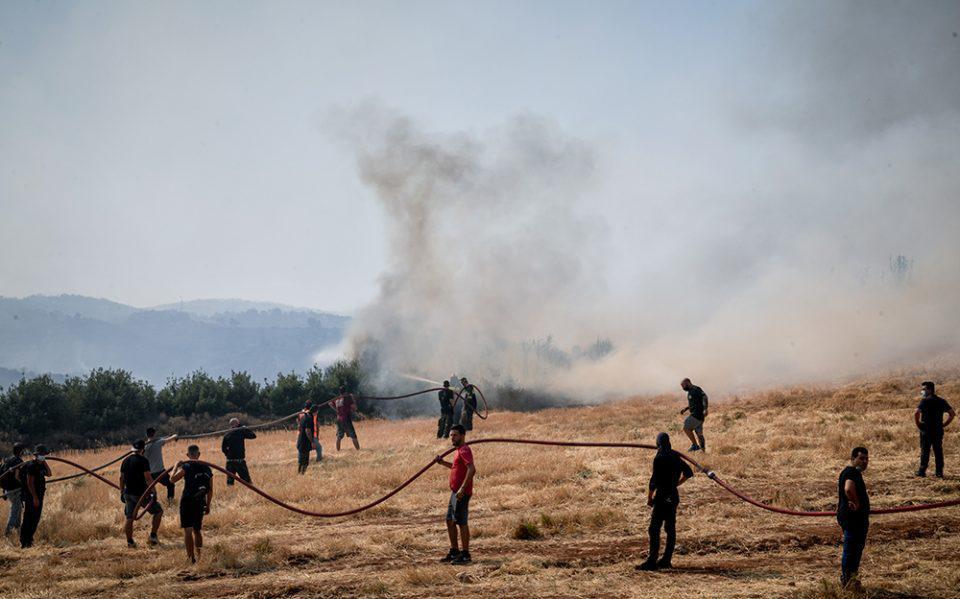 Φωτιά στις Αφίδνες: Στο νοσοκομείο δύο αδέρφια εθελοντές πυροσβέστες