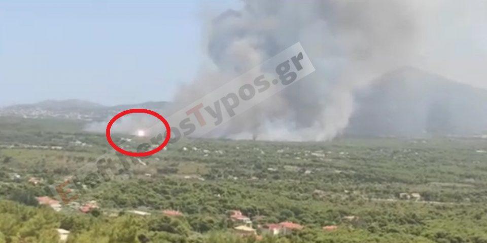 Αποκάλυψη Eleftherostypos.gr: Βίντεο ντοκουμέντο με τις εκρήξεις στην φωτιά στη Βαρυμπόμπη