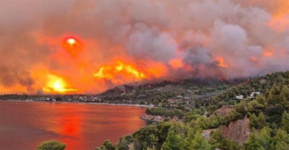 Πύρινη κόλαση στη Λίμνη Ευβοίας: Νέες εκκενώσεις οικισμών