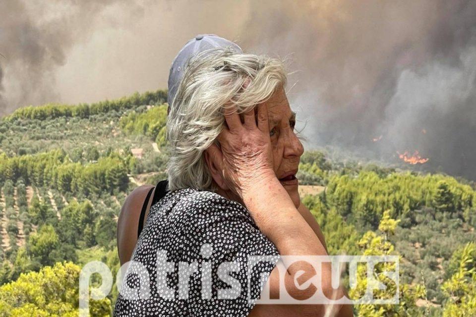 Φωτιά στην Αρχαία Ολυμπία: Ασταμάτητη η πύρινη λαίλαπα – Εκκενώνονται συνεχώς οικισμοί, δραματικές εικόνες